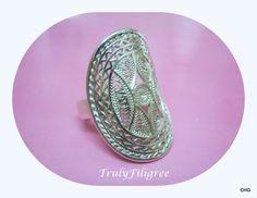 Handmade Silver Filigree Ring