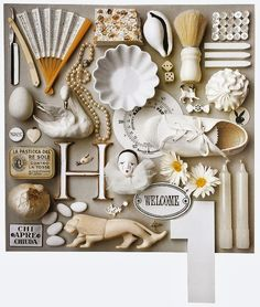 { source } { source } { source } INSPIRATION 2014 As you can tell, I am on a organizing binge ~ or at least, that i. Collections Of Objects, Displaying Collections, Things Organized Neatly, Color Collage, Collage Design, Color Art, Color Studies, Assemblage Art, Altered Art