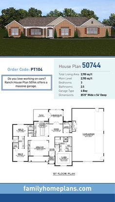 109 best ranch style home plans images in 2019 ranch home plans rh pinterest com