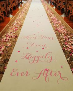 ...and they lived happily ever after.  #aisle #aislerunner #fairytale #wedding #petals
