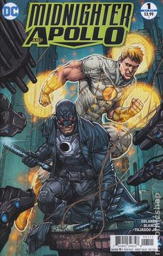 Midnighter and Apollo (2016) 1B DC Comics Book cover art super heroes villians