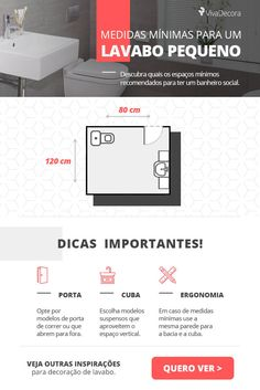 Infográfico - Lavabo Pequeno #infographic #lavabopequeno