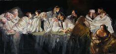 Art Now and Then: Robert Oscar Lenkiewicz The Last Supper Painting, Modern Art, Contemporary Art, Local Painters, High Art, Artist Life, Art For Art Sake, London Art, Art Studies