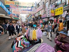Seoul Market. South Korea were you can buy authentic korean food and fake name brand  bags. I buy neither. But is was nice to walk around.