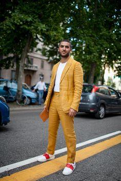 Milan Men's Fashion Week Street Style [Photo: Kuba Dabrowski]