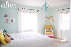 little girl room in soothing blue