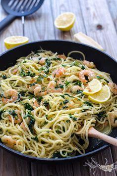 špagety s krevetami Spaghetti, Cooking, Ethnic Recipes, Food, Milan, Kitchen, Essen, Meals, Yemek