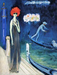 Kees van Dongen「The Quai, Venice」(1921)
