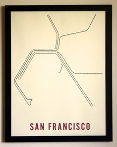 New York City Typographic Transit Map Poster by fadeoutdesign