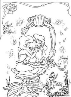 Adult Ariel Coloring Pages