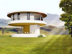 Sunhouse 360 designers claim homeowners could save 70 per cent in energy costs and reduce carbon dioxide emissions by 68 per cent Modern Birdhouses, Circle House, Circular Buildings, Ultra Modern Homes, 360 Design, Cottage Plan, Round House, Live In The Now, Wonderful Places