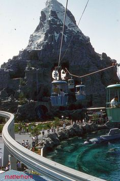Matterhorn, Monorail, Skyway at Disneyland, 1959