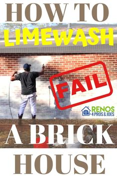 Limewash Brick House Planning Guide Learn what not to do as well as the difference between limewash and regular old paint as well as some insights on the best way to apply limewash to exterior brick. Care Skin Condition and Treatment Oil Makeup Painted Brick Exteriors, Types Of Bricks, Using A Paint Sprayer, Home Exterior Makeover, Home Buying Tips, Modern Farmhouse Exterior, Decoration, How To Apply, How To Plan