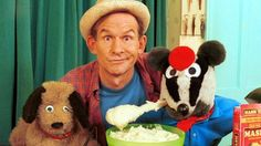 Andy Cunningham as Simon Bodger, with Badger