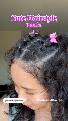 Cute Curly Hairstyle Tutorial #PinterestPartner