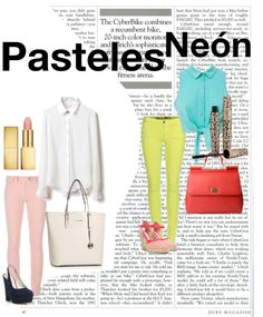 """""""NeonPastels"""" by laura-restrepo on Polyvore"""
