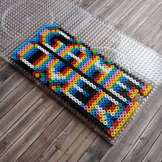 """Game Over"" Optical Illusion Perler Beads - Beadsmeetgeeks"