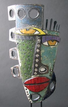 """""""Primitive Etiquette"""" by Kimmy Cantrell - With his striking ceramic faces, still lifes & nudes, the College Park, Georgia native conjures up imagery that beckons us to view ourselves & the world through an unorthodox lens. Cantrel lLargely self-taught, Kimmy discovered his artistic vision in high school / http://www.kimart.com"""