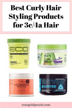 Heres a review of curly hair products that provide excellent curl definition for natural hair including hair types 3/C 4/A natural hair Good Natural Hair Products, 3c Hair Products, 4a Natural Hair, Natural Hair Growth, Make Hair Curly, Curly Girl, How To Make Hair, Curly Hair Styles, 4a Hair Type