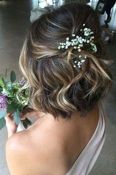 30 Pinterest Wedding Hairstyles For Your Unforgettable Wedding ❤ See more: http://www.weddingforward.com/pinterest-wedding-hairstyles/ #wedding #hairstyles #'weddinghairstylesforshorthair'