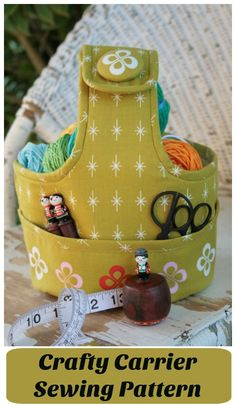 Ideal for crafters of all kinds, sewing pattern for this crafty carrier.