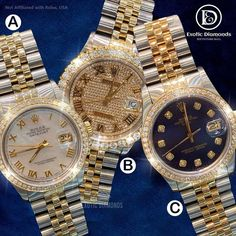 Comment below 👀... We carry large collection of rolex watches ! DM US OR Buy on our website 💻 www.exoticdiamondsa.com Call us ☎️ : +1 210 927 7787 We offer Financing and Layaway 36 months interest free financing available... @exoticfreeze @exoticdiamondsa #rolexwatch #rolex #watchesofinstagram #rolexsubmariner #rolexwatches #watches #rolexdatejust #watch #rolexdaytona #watchoftheday #watchfam #rolexaholics #rolexero #watchaddict #watchcollector #rolexlover #rolexwrist #rolexgmtmaster #dail Rolex Gmt Master, Pre Owned Rolex, Rolex Daytona, Rolex Submariner, Rolex Watches, Stuff To Buy