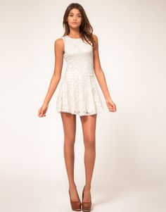 cute white spring dress