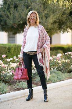 Our Boho Raspberry Poncho is perfect for fall, featured on my blog today and part of 24-HR FLASH SALE - 15% OFF WITH CODE FS913 PLUS FREE US SHIPPING www.jacketsociety.com