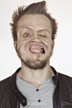 Hilarious - gale force winds + faces = this brilliant project by Tadao Cern #photography #portraits #fun