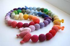 Crochet babywearing necklace