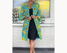Items similar to african print women's jacket /african print blazer jacket /african wedding dress /ankara blazer/african formal dress/african womens jacket on Etsy African Wedding Dress, African Print Dresses, African Fashion Dresses, African Dress, African Prints, Ankara Fashion, Fashion Outfits, Fashion 2018, Dress Fashion