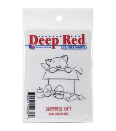 Deep Red Stamps Cling Stamp-Surprise Gift