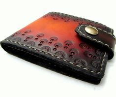 Art Deco Leather Bifold Wallet with Snap by SanFilippoLeather, $120.00