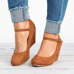 Seraih Womens Wedge Shoes Summer Espadrille Ankle Strap Platform Sandals * Sincerely hope that you actually do like our photo. (This is an affiliate link) Mary Jane Wedges, Mary Jane Pumps, Pump Shoes, Wedge Shoes, Wedge Pump, Wedge Sneakers, Wedge Sandals, Women's Shoes, Shoes Sneakers