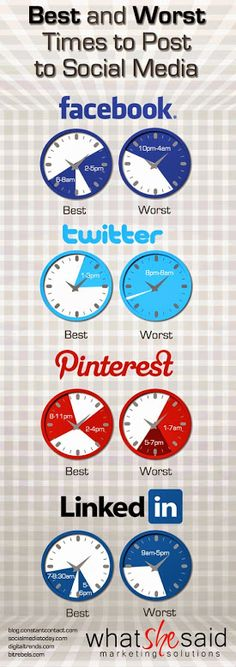 Best and worst times to post on #SocialMedia via Oxygen 2.0 #Infographic