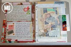 Parchment paper pocket... Midwestern Girl: my december daily...the first 5 days...