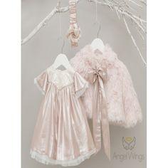 Χειμερινό φόρεμα βάπτισης Angel Wings σε απαλή ροζ απόχρωση, Χειμωνιάτικο βαπτιστικό φόρεμα μοντέρνο-οικονομικό, Επώνυμο φορεματάκι βάπτισης τιμές-προσφορά, Βαπτιστικό φόρεμα Χειμερινό, Angel Wings βαπτιστικά κορίτσι eshop Girls Dresses, Flower Girl Dresses, Wedding Dresses, Fashion, Dresses Of Girls, Bride Dresses, Moda, Bridal Gowns, Fashion Styles