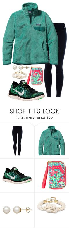 """""""I feel like my sets are slowly going down hill"""" by valerienwashington ❤ liked on Polyvore featuring NIKE, Patagonia, Honora, women's clothing, women, female, woman, misses and juniors"""