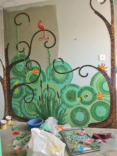Mosiac Bathroom WIP by Waschbear - Frances Green, via Flickr