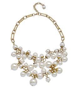 Blu Bijoux Faux Pearl Bib Necklace #maxandchloe