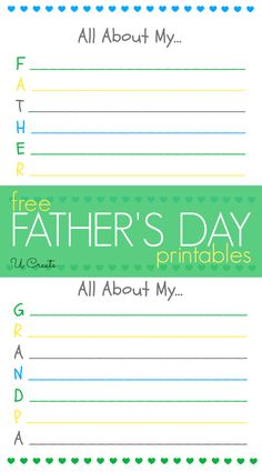 Father's Day Printables by U Create