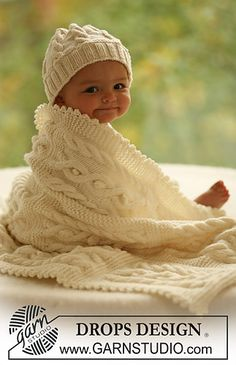 Free Pattern: Hat and blanket with cable pattern
