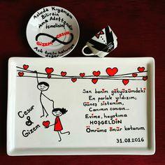 Damat kahvesi Scrapbook, Mugs, Wedding, Santos, Valentines, China Painting, Hochzeit, Valentines Day Weddings, Cups