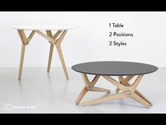 Mesa que cambia de tamaño gracias a un mecanismo impresionante