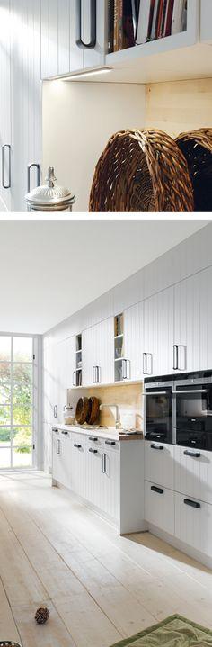 Wunderbar Stauraum Wunder Landhausküche In Grau