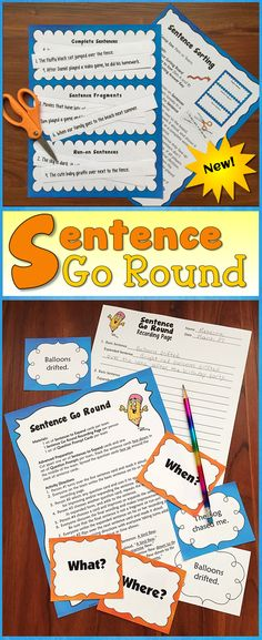Awesome activity to help students learn to write great sentences! One student described Sentence Go Round as adding bling to your sentences! $