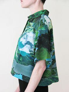RICHARDS Cropped Summer Shirt - Fantasy « Pour Porter.