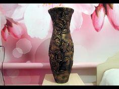 Напольная ваза своими руками из картона и шпаклевки - YouTube