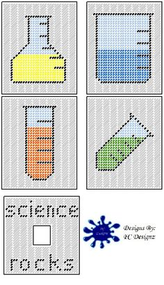 Science Tissue Box Cover Plastic Canvas Pattern by PCDesignz