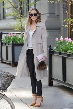 Soft Trench worn by Olivia Palermo | see more of our favorite looks like this…